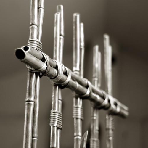 Krata z kutego bambusa